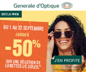 Generale d'Optique : -50% du 1 au 22 septembre