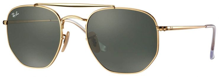 Ray-Ban Double Bridge The Marshall Large Or RB3648 001 54-21