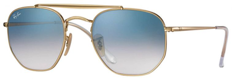 Ray-Ban Double Bridge The Marshall Large Or RB3648 001/3F 54-21