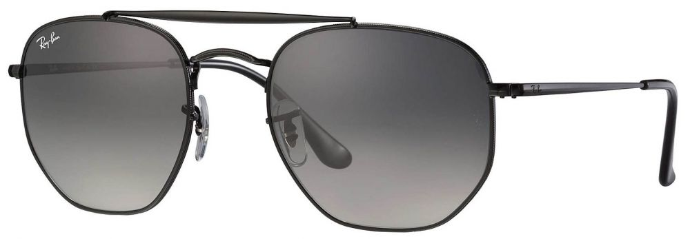 382ccbfb72592 ... Solaires Ray-Ban Double Bridge The Marshall Medium Noir RB3648 002 71  51-