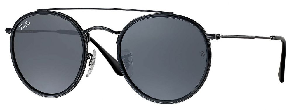 lunettes de soleil ray ban rb3647n round double bridge