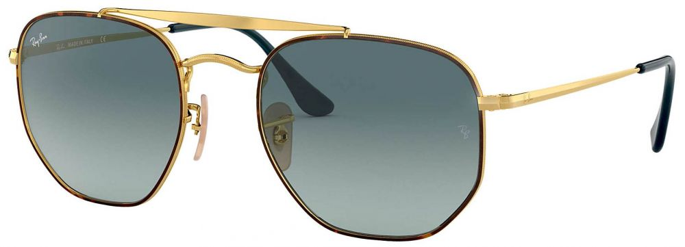 5c04a00390845 ... Solaires Ray-Ban Double Bridge The Marshall Large Or RB3648 9102 3M 54-
