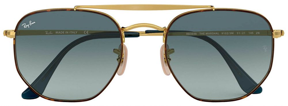 2e6780059be18 Solaires Ray-Ban Double Bridge The Marshall Medium Or RB3648 9102 3M 51- ...