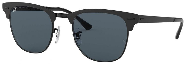 Solaires Ray-Ban Clubmaster Metal Noir RB3716 186/R5 51-21