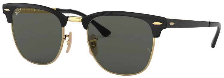 Ray-Ban Clubmaster Metal Noir Or RB3716 187/58 51-21