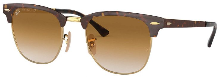 Ray-Ban Clubmaster Metal Havane Or RB3716 9008/51 51-21