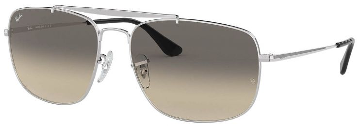 Solaires Ray-Ban Aviator The Colonel Argent RB3560 003/32 61-17