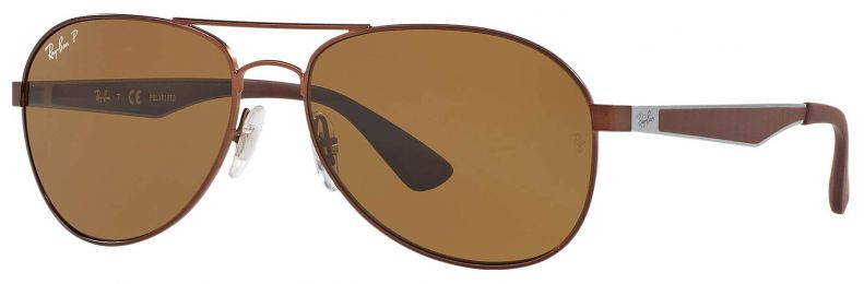 Solaires Ray-Ban Aviator Large Metal Marron RB3549 012/83 58-16