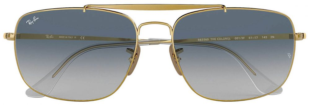 34b0132056 Lunettes de soleil Ray-Ban Aviator The Colonel Or RB3560 001 3F 61 ...