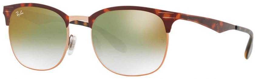 Solaires Ray-Ban Clubmaster Métal Havane RB3538 9074/W0 53-19