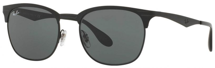 Solaires Ray-Ban Clubmaster Metal Noir RB3538 186/71 53-19