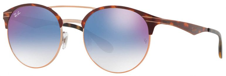 Solaires Ray-Ban Double Bridge Métal Havane RB3545 9074/X0 51-20