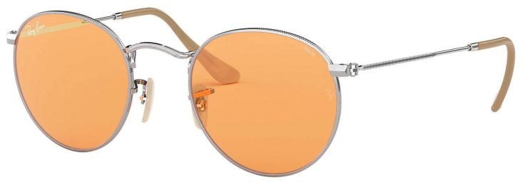 Solaires Ray-Ban Round Evolve Métal Argent RB3447 9065/V9 50-21