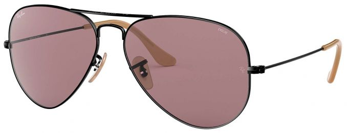 Solaires Ray-Ban Aviator Evolve Métal Argent RB3025 9066/Z0 55-14