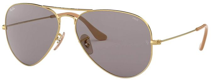Solaires Ray-Ban Aviator Evolve Large Métal Or RB3025 9064/V8 58-14