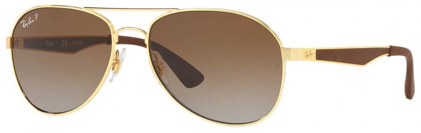 Solaires Ray-Ban Aviator Large Metal Or RB3549 001/T5 58-16