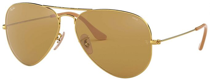 Solaires Ray-Ban Aviator Evolve Métal Or RB3025 9064/4I 55-14