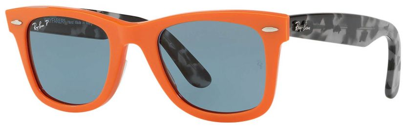 Solaires Ray-Ban Wayfarer Pop Orange Havane RB2140 1242/52 50-22