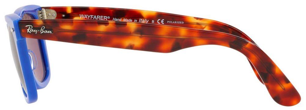 ac672dca817a Lunettes de soleil Ray-Ban Wayfarer Pop Bleu Havane RB2140 1241 W0 ...