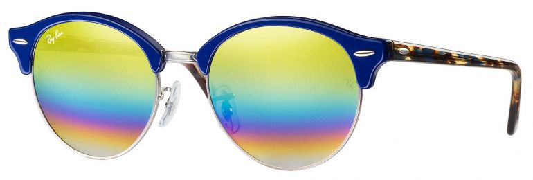 Solaires Ray-Ban Clubmaster Clubround Mineral Flash Lenses RB4246 1223/C4 51-19