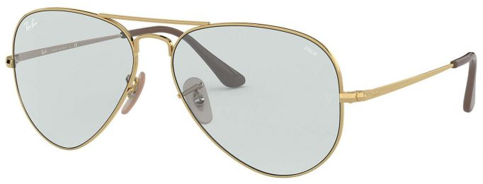 Ray-Ban Aviator Solid Evolve Medium RB3689 001/T3 58-14