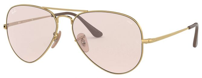 Ray-Ban Aviator Solid Evolve Small RB3689 001/T5 55-14