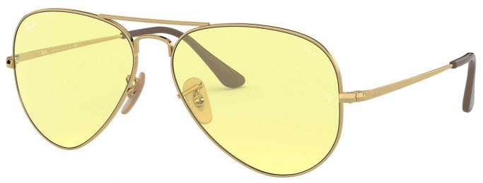 Ray-Ban Aviator Solid Evolve Medium RB3689 001/T4 58-14