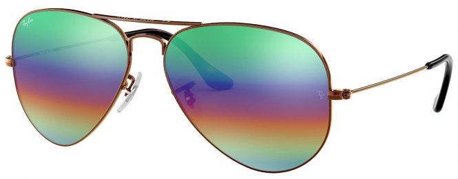 Ray-Ban Aviator Mineral Flash Lenses Medium RB3025 9018/C3 58-14