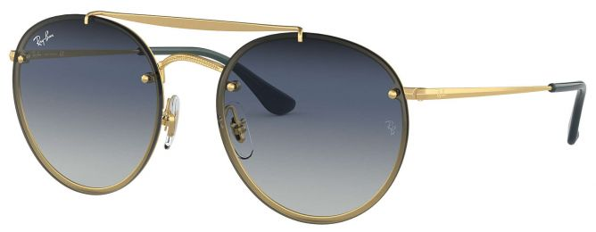Ray-Ban Double Bridge Blaze Round RB3614N 9140/0S 54-18
