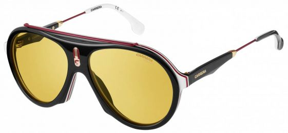 Solaires Carrera Flag Noir Blanc Rouge Or Flag GUU/HO 57-16