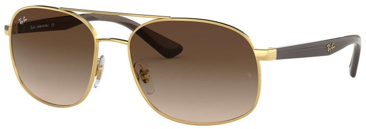 Ray-Ban Aviator Marron dégradé RB3593 001/13 58-17