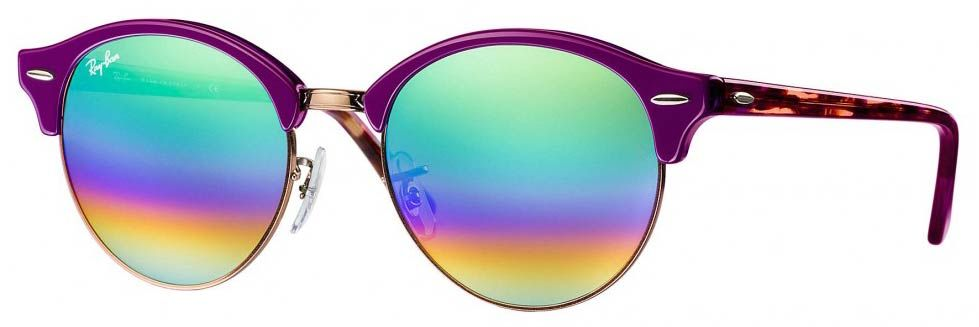 Solaires Ray-Ban Clubmaster Clubround Mineral Flash Lenses RB4246 1221 C3  51-19 7c5898d70e7e