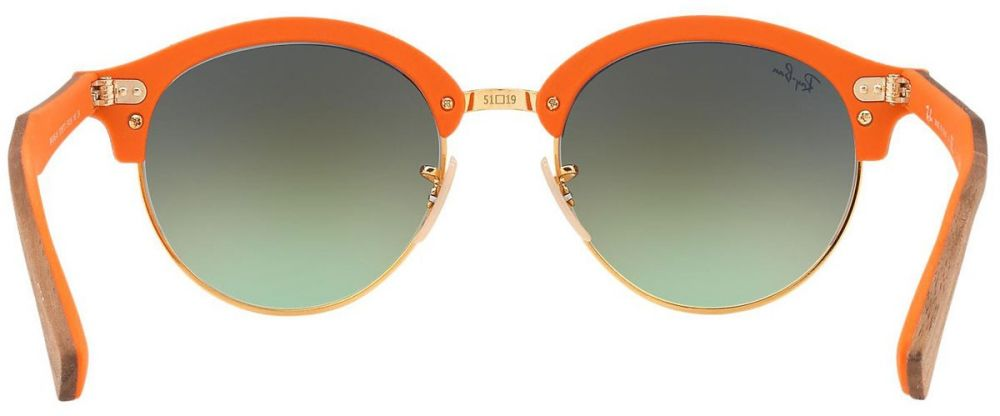 c759f3e4df Lunettes de soleil Ray-Ban Clubmaster Clubround Wood RB4246M 1218/7O ...