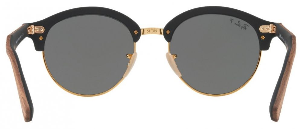 3cee420f50 Lunettes de soleil Ray-Ban Clubmaster Clubround Wood RB4246M 1181/58 ...