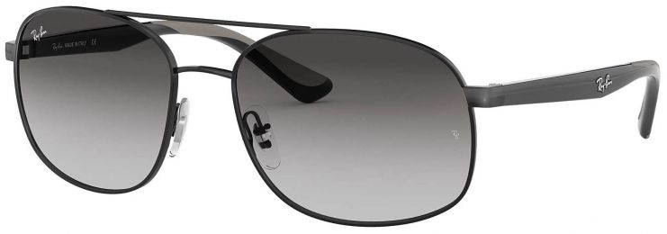 Solaires Ray-Ban Aviator Noir RB3593 002/8G 58-17