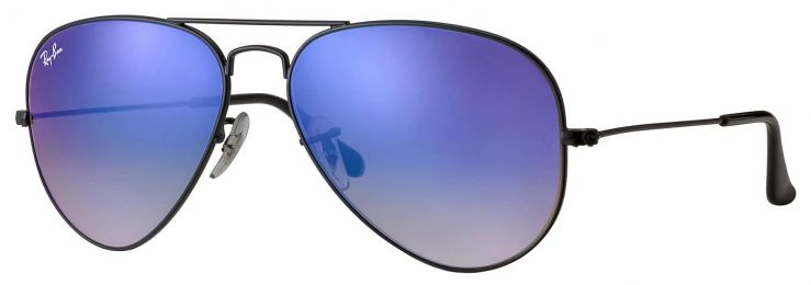 Solaires Ray-Ban Aviator Flash Lenses Gradient RB3025 002/4O 55-14