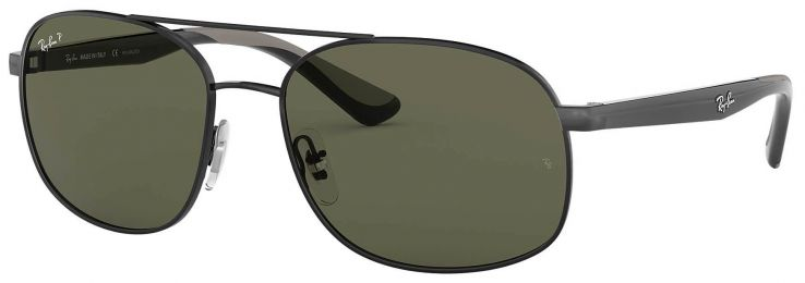 Solaires Ray-Ban Aviator Noir RB3593 002/9A 58-17
