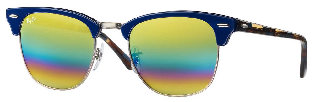 Solaires Ray-Ban Clubmaster Mineral Flash Lenses Medium RB3016 1223 C4 51-21 a673e30f8e09
