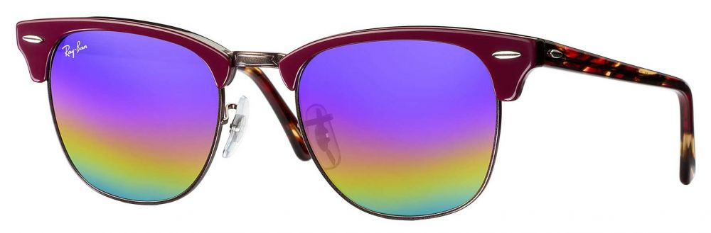 77f36aebc2 ... Solaires Ray-Ban Clubmaster Mineral Flash Lenses Small RB3016 1222 C2  49-21
