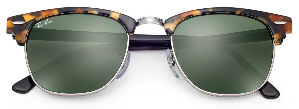465f8532446 Lunettes de soleil Ray-Ban Clubmaster Fleck Small RB3016 1157 49-21 ...