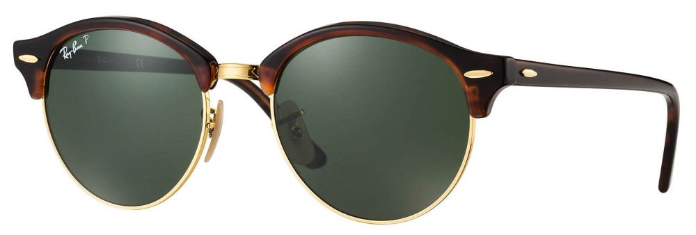59758aaacea27b Lunettes de soleil Ray-Ban Clubmaster Clubround Classic RB4246 990 ...