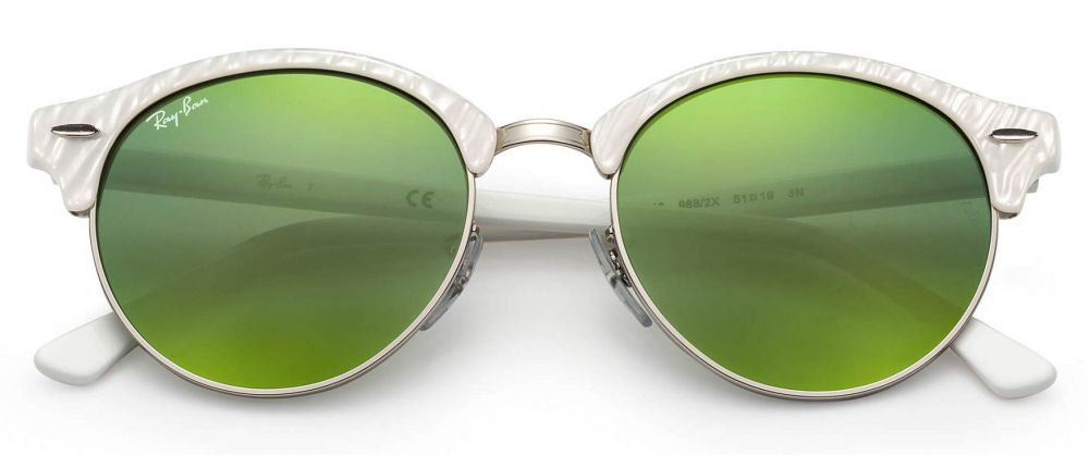 Solaires Ray-Ban Clubmaster Clubround Flash Lenses RB4246 988 2X 51-19 ... 7675097f06df