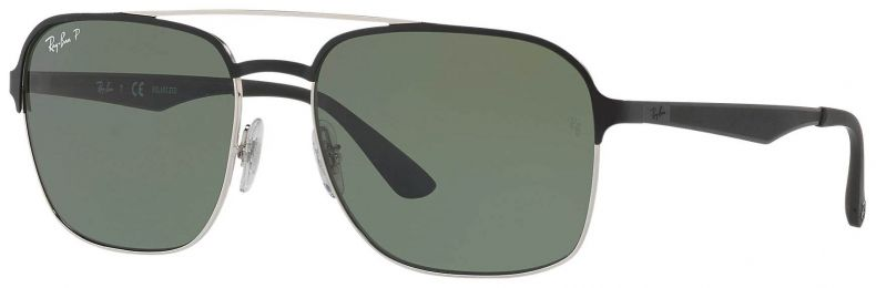 Solaires Ray-Ban Aviator Métal Argent RB3570 9004/9A 58-18