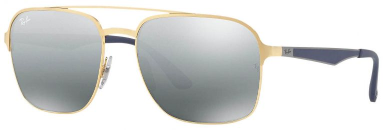 Solaires Ray-Ban Aviator Métal Or RB3570 001/88 58-18