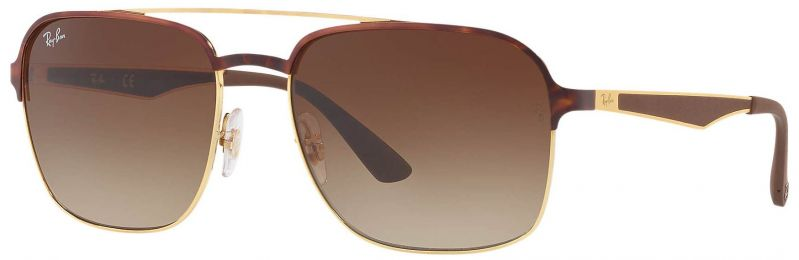 Ray-Ban Aviator Métal Or Havane RB3570 9008/13 58-18